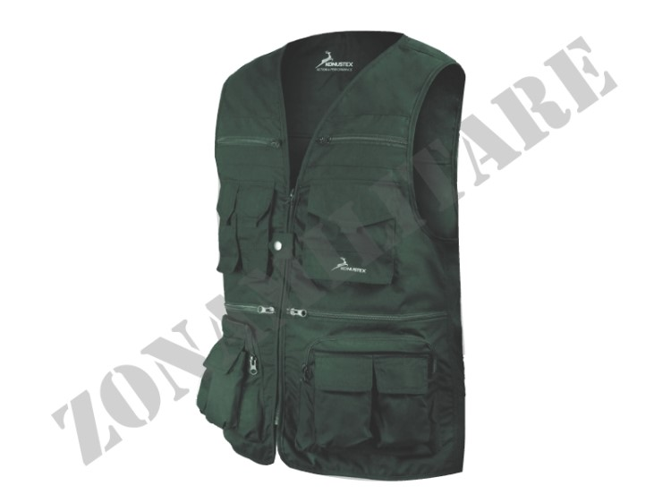 GILET MULTITASCHE DEMOX KONUSTEX COLORE VERDE