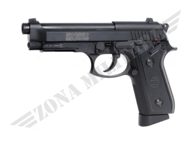 PISTOLA SWISS ARMS P92 SCARRELLANTE CAL.4.5 POT.<7.5JOULE