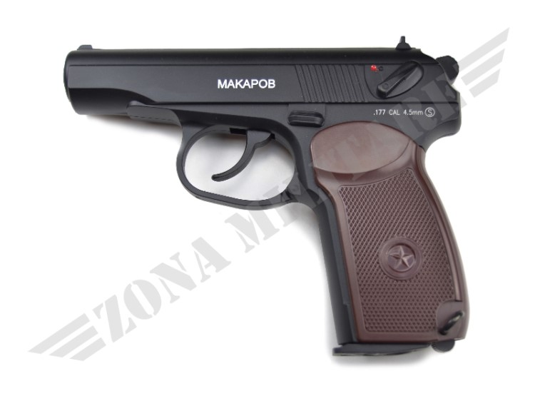 PISTOLA SWISS ARMS CO2 MAKAROV CAL.4.5 POT.<7.5 JOULE