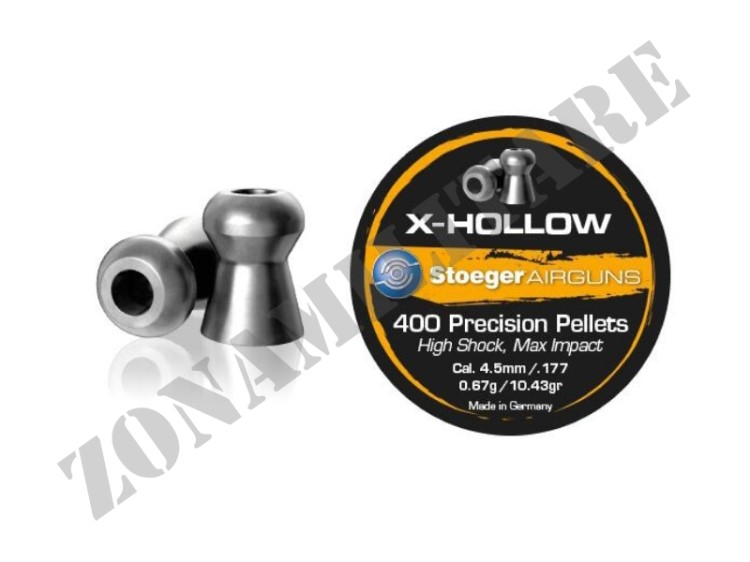 PIOMBINI STOEGER X-HOLLOW POINT CONF.400PCS CAL.4.5