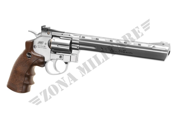 REVOLVER DAN WESSON 8 INCH FULL METAL CO2 CHROME