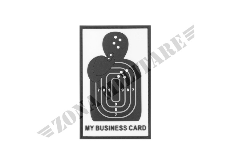 MY BUSINESS CARD RUBBER PATCH SWAT JTG