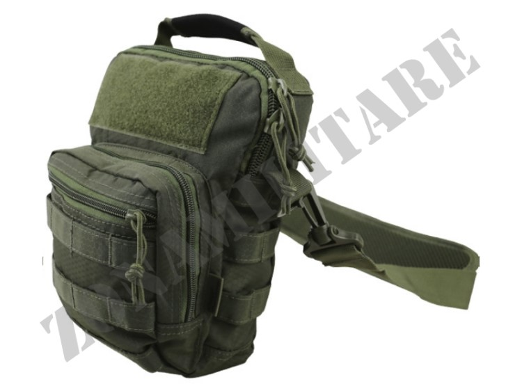 MONOSPALLA HEX STOP EXPLORER SHOULDER BAG OLIVE GREEN KOMBAT