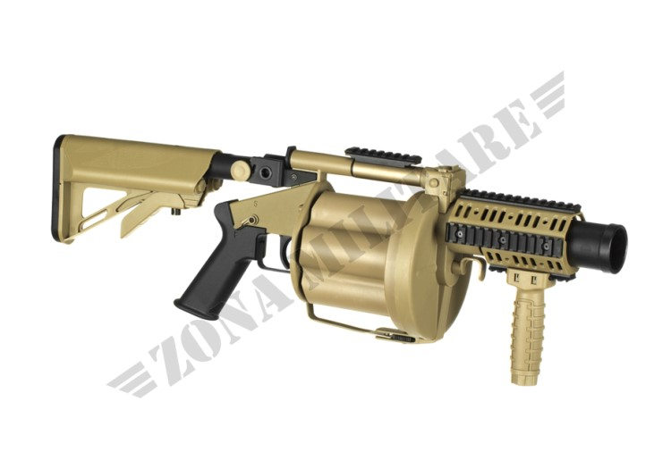 MGL MULTIPLE GRENADE LAUNCHER ICS  TAN VERSION