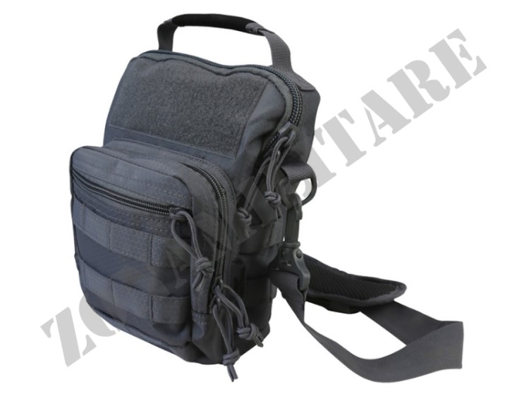 MONOSPALLA HEX STOP EXPLORER SHOULDER BAG GUNMETAL GREY KOMBAT
