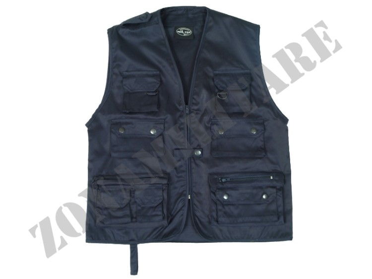 GILET  MULTITASCHE COLORE BLU NAVY