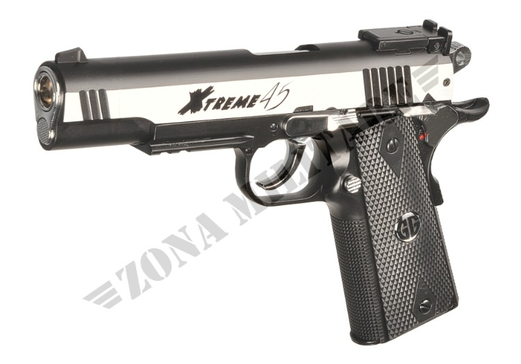 PISTOLA XTREME 45 FULL METAL CO2 INOX G&G
