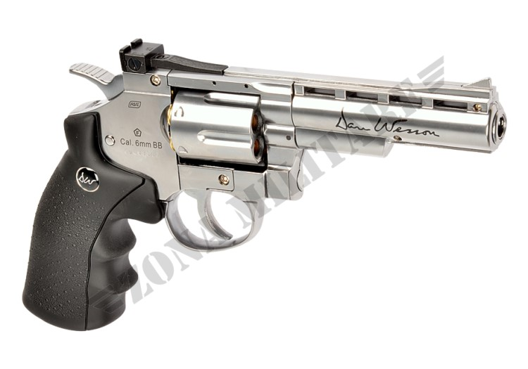 REVOLVER DAN WESSON 4 INCH FULL METAL CO2 CHROME
