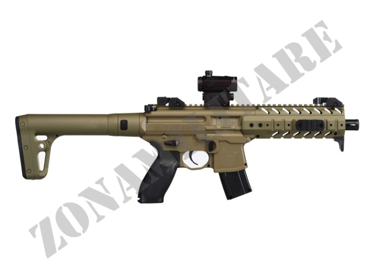 CARABINA SIG SAUER CAC MPX CAL.4.5 FDE POT.<7.5JOULE + RED DOT