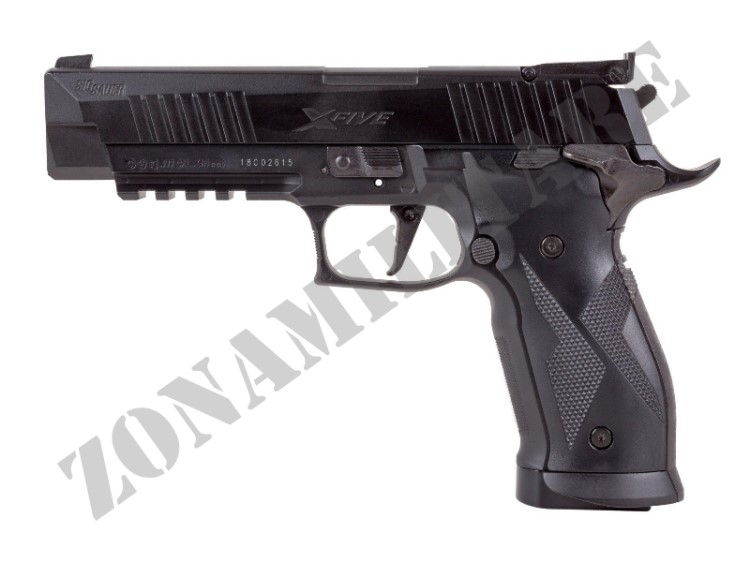 PISTOLA SIG SAUER AIR X-FIVE CO2 CAL.4.5 POT.<7.5 JOULE BLACK