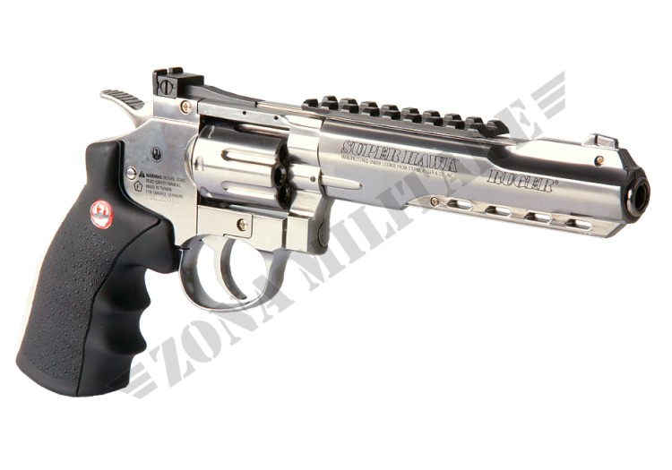 REVOLVER RUGER SUPER HAWK 6 INCH METAL CHROME