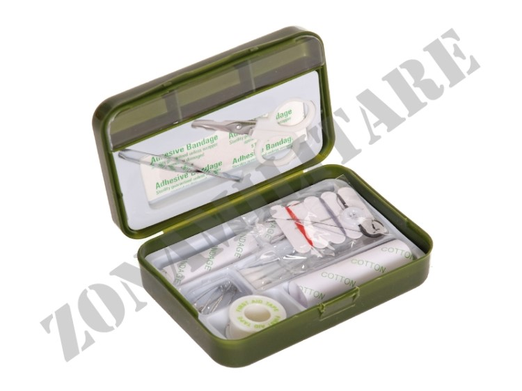 KIT PRONTO SOCCORSO IN BOX IMPERMEABILE VERDE