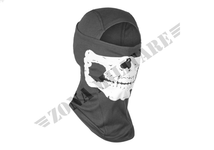 PASSAMONTAGNA MPS DEATH HEAD BALACLAVA BLACK
