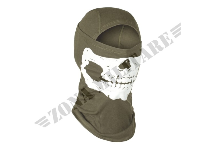 MPS DEATH HEAD BALACLAVA INVADER GEAR VERDE OD