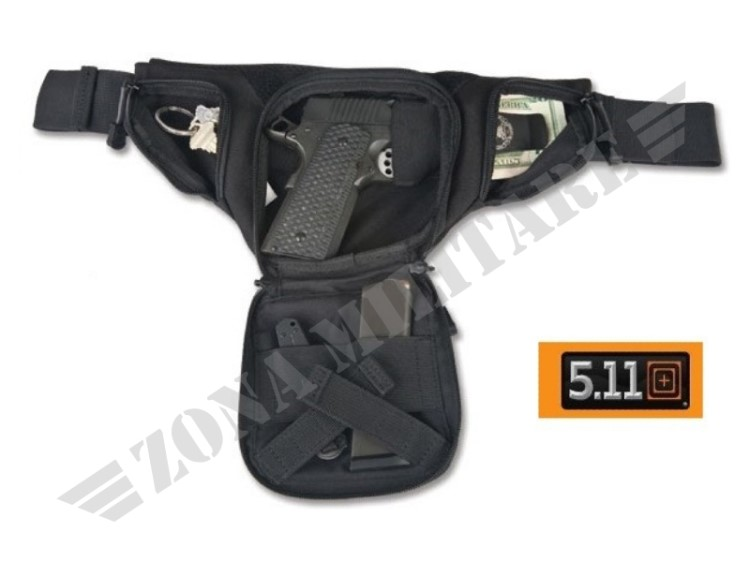 MARSUPIO 5.11 CARRY PISTOL POUCH BLACK VERSION