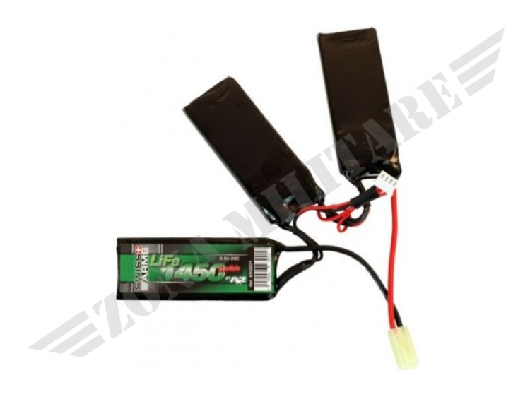 BATTERIA LIFE SWISS ARMS 9.9V 1450MAH 20C TRIPLE /C48