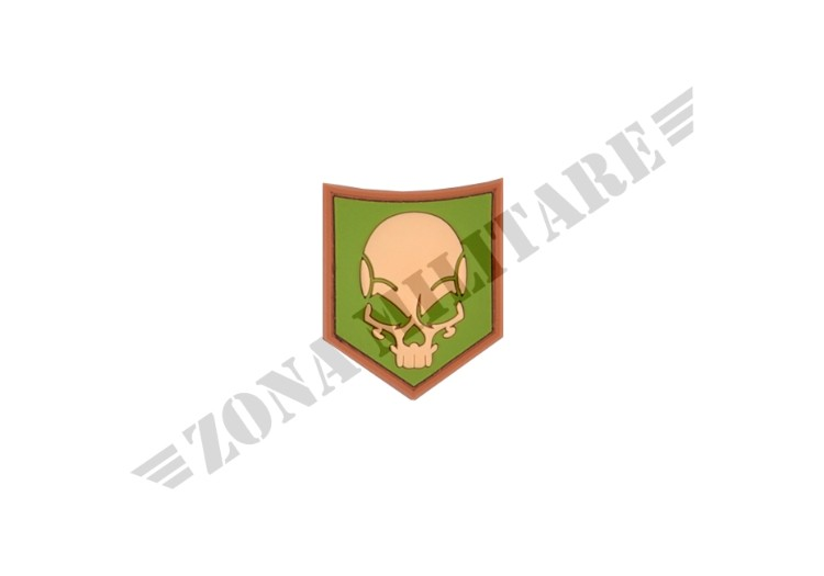 SOF SKULL RUBBER PATCH MULTICAM