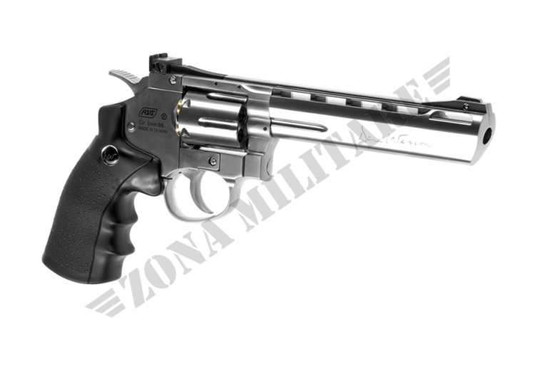REVOLVER 6 POLLICI FULL METAL CHROME CO2 DAN WESSON