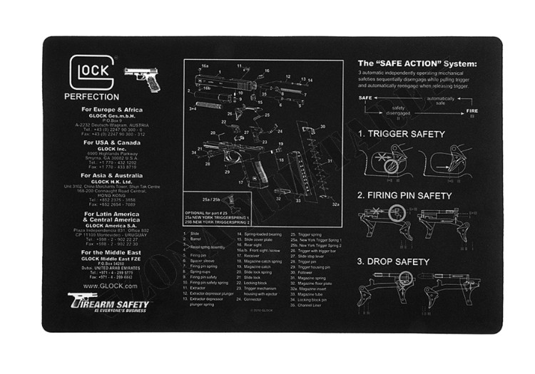 BENCH MAT GLOCK BLACK VERSION