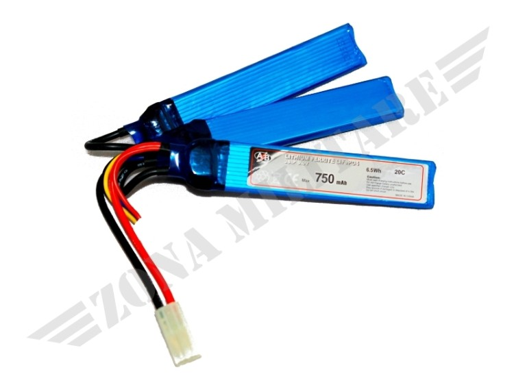 BATTERIA ACTION BATTERIES LIFE 750 MAH 9,9V 20C