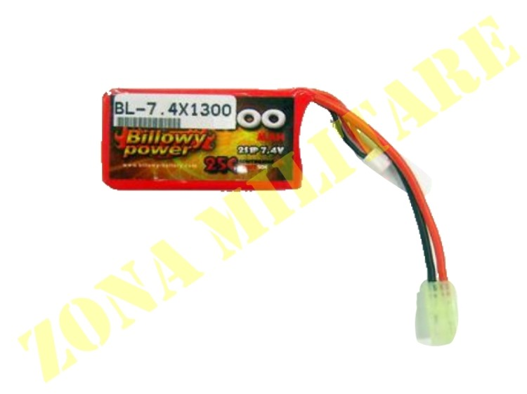 BATTERIA BILLOWY POWER 7.4V 1300MHA 25C