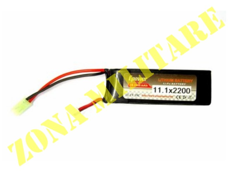 BATTERIA E-POWER LIPO 11.1V 2200MAH 15C