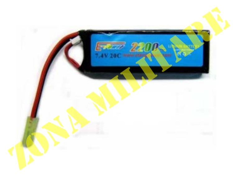 BATTERIA E-POWER LI-PO 7.4V 2200MAH 20C