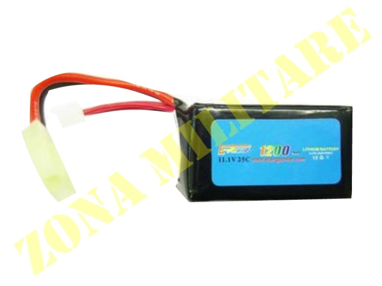BATTERIA E-POWER LIPO 11.1V 1200MAH 25C 3 ELEMENTI