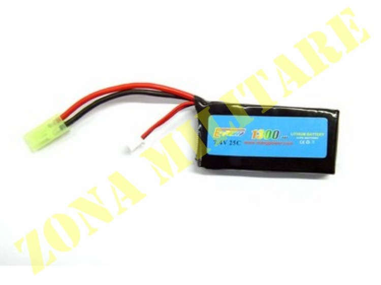 BATTERIA E-POWER LIPO 7.4V 1300MAH 25C
