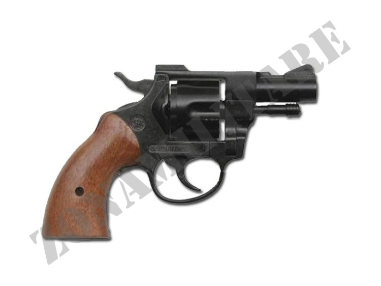 REVOLVER A SALVE OLIMPYC BLACK & REAL WOOD CALIBRO 380 BRUNI