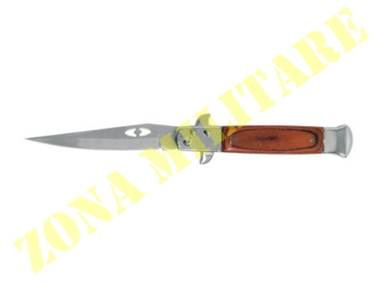 COLTELLO ROYAL A SCATTO CON MANICO IN LEGNO