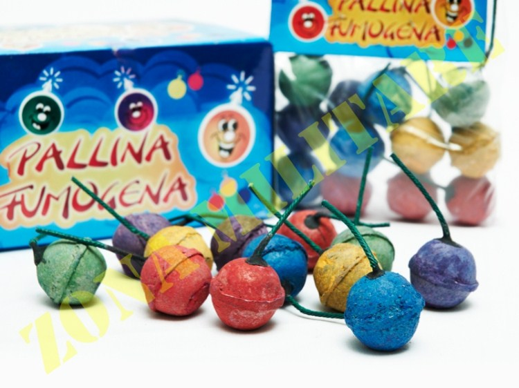PALLINE FUMOGENE IN BUSTINA COLORI ASSORTITI