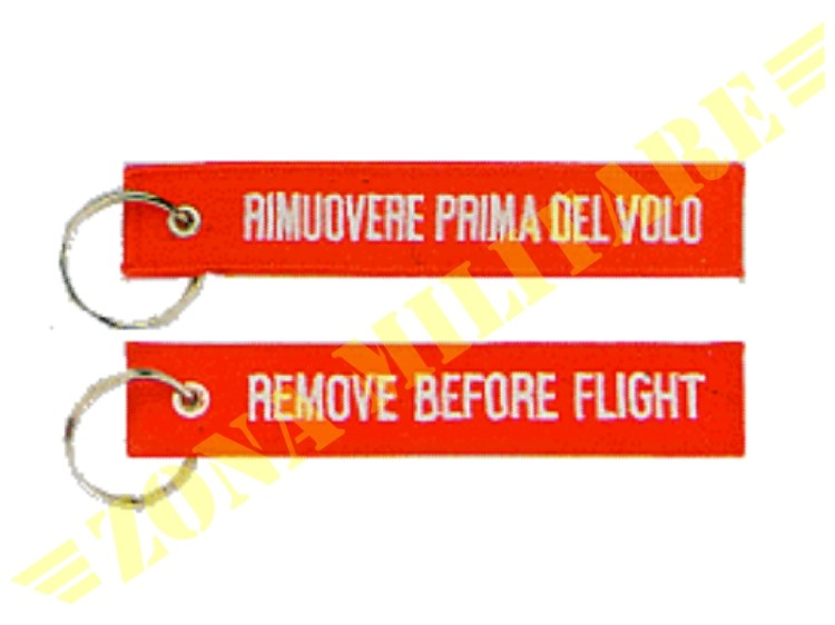 PORTACHIAVI REMOVE BEFORE FLIGHT FONDO ROSSO