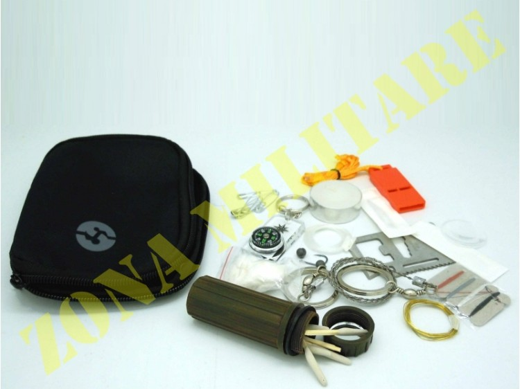 KIT SURVIVAL EUMAR MOLLE COLORAZIONE NERA