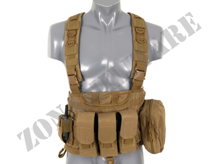 TATTICO FORCE RECON CHEST HARNESS COYOTE 8 FIELDS