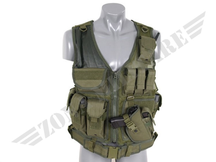 TACTICAL VEST COLORAZIONE OLIVE 8 FIELDS