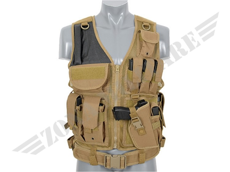 TACTICAL VEST COLORAZIONE COYOTE TAN 8 FIELDS