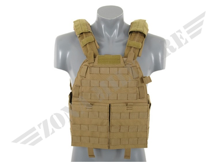 TATTICO MOLLE TYPE ARMOR VEST COYOTE BROWN 8 FIELDS