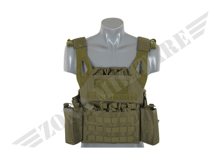 LIGHTWEIGHT JUMP PLATE CARRIER WITH SET OLIVE 8 FIELDS