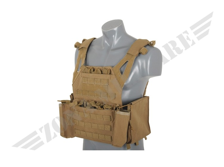 LIGHTWEIGHT JUMP PLATE CARRIER POUCH SET COYOTE