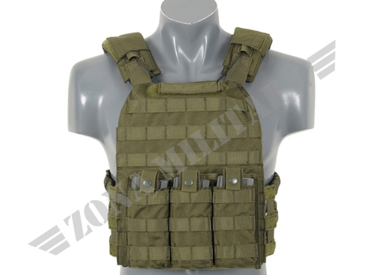 FIRST DEFENSE PLATE CARRIER OLIVE VERSION 8 FIELDS