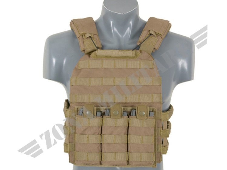 FIRST DEFENSE PLATE CARRIER TAN VERSION 8 FIELDS