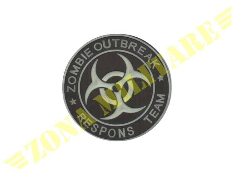 PATCH GOMMATA ZOMBIE OUTBREAK GLOW IN THE DARK