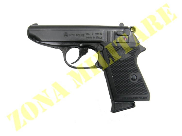 PISTOLA A SALVE NEW POLICE BLACK CALIBRO 8 BRUNI