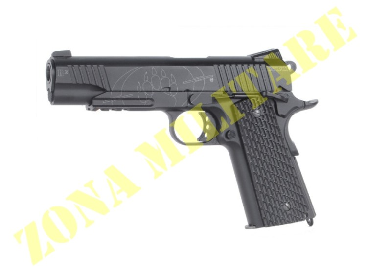 PISTOLA BLACKWATER CYBER GUN BW1911 R2 CO2 METAL