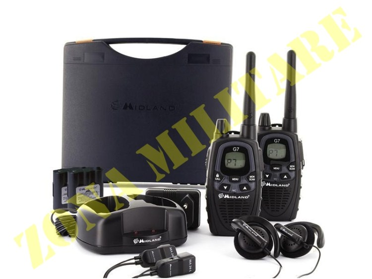 SET RADIO MIDLAND MODELLO G7 XTR IN VALIBOX COMPLETA