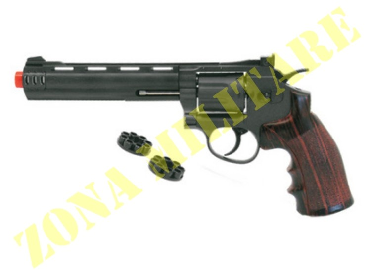 REVOLVER WIN GUN CO2 CANNA DA 6'' BRUNITO