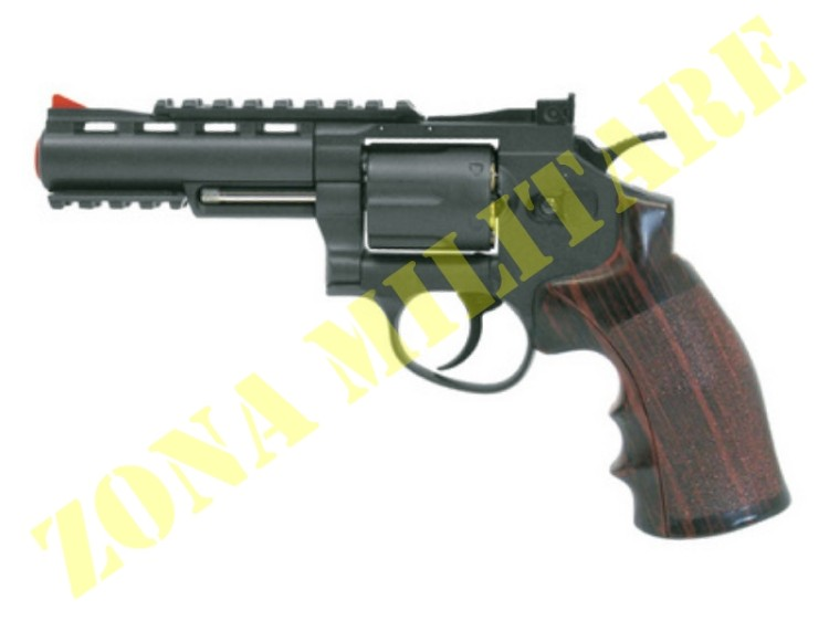 REVOLVER WIN GUN A CO2 CANNA DA 4'' BRUNITO