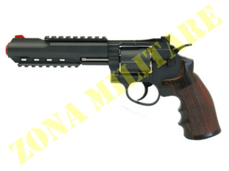 REVOLVER WIN GUN A CO2 CANNA DA 6'' BRUNITO