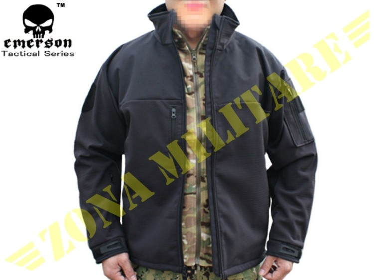 GIACCA EMERSON SOFT SHELL RANGER COLORE BLACK
